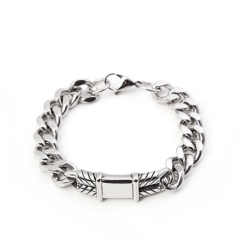 Cuban style men's stainless steel 316L bracelet