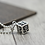 Thumbnail: Retro punk cube anchor sweater pendant sterling silver 925