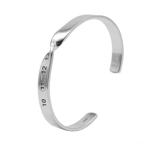 Silver unique design simple retro twist bracelet sterling silver 925