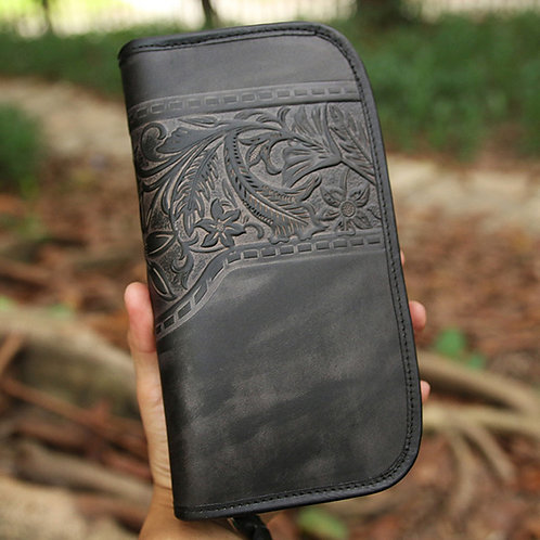 Laest Fashion Style Full Grain Cow Leather Wallet