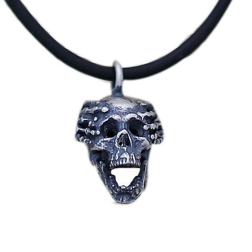 Retro creative design unique skull pendant sterling silver 925