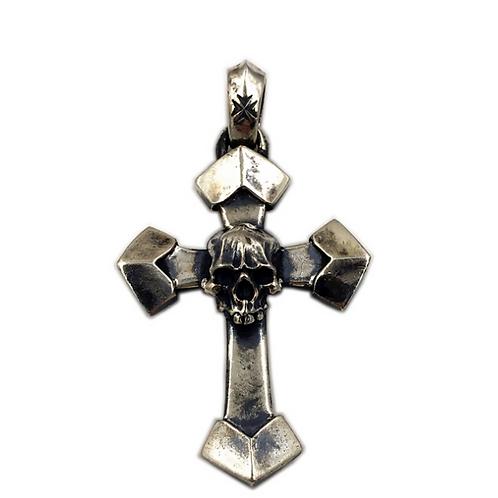 Gabor skull cross pendant sterling silver 925 Gothic style
