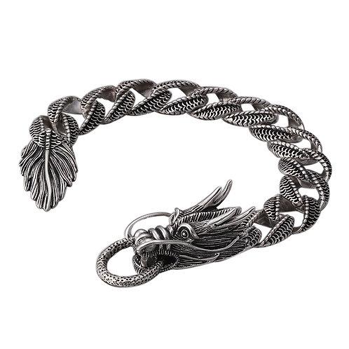 Retro silver fashion domineering dragon men's bracelet sterling silver 925