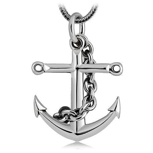 Fashion unique design anchor pendant sterling silver 925