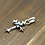 Thumbnail: Western style fashion design cross sweater pendant sterling silver 925