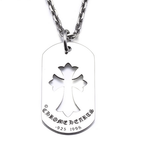 Western style simple design hollow-out cross pendant sterling silver 925