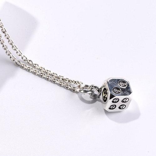 Silver fashion design skull dice men's pendant sterling silver 925