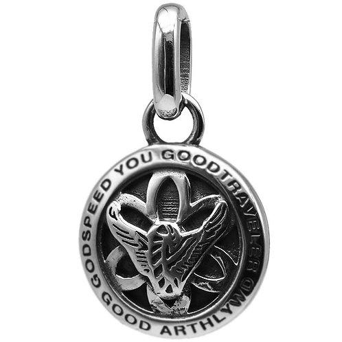 Western fashion simple design flying eagle pendant sterling silver 925