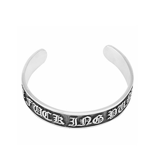 Silver fashion style unique design letter men's bracelet sterling silver 925