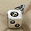 Thumbnail: Silver creative design skull dice pendant sterling silver 925