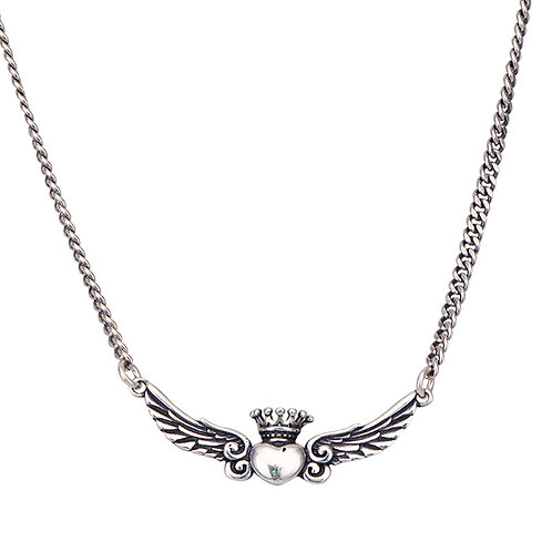 Silver fashion crown wing pendant sterling silver 925