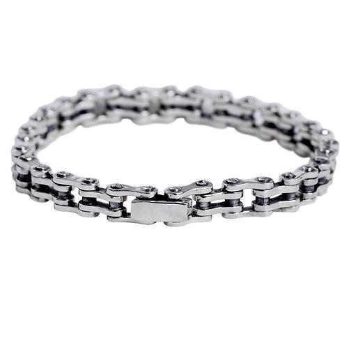 Western punk rock style domineering fine work men's bracelet sterling silver 925