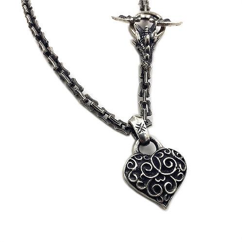 Gabor heart shape pendant sterling silver 925 punk s