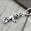 Thumbnail: Silver little skull punk sweater pendant sterling silver 925