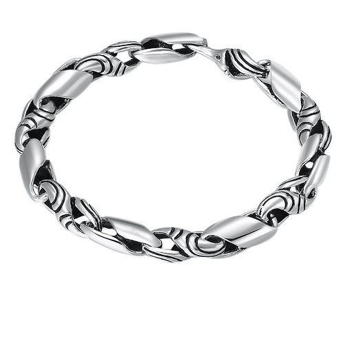 Silver retro fashion easy-matching men's bracelet sterling silver 925