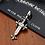Thumbnail: Western style silver retro fish bone cross pendant sterling silver 925