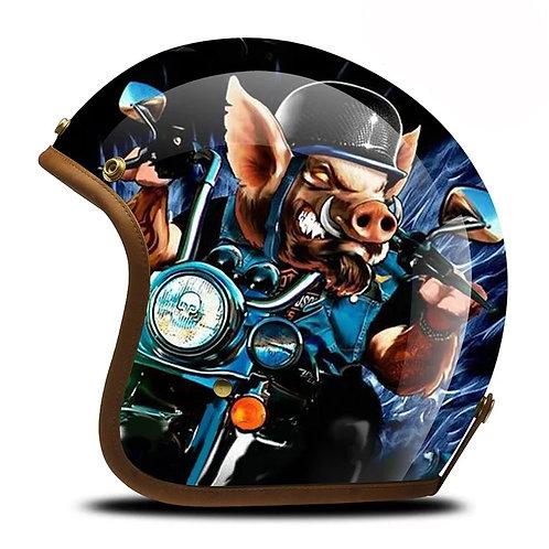 Superior Quality Hand-Painting Glass Fiber Customize Motrocycle Helmet