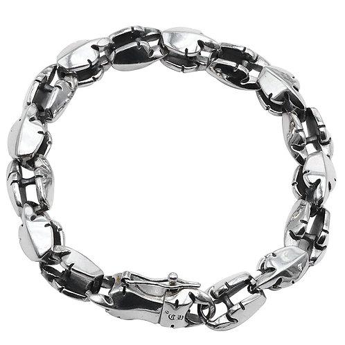Unique simple design flame phoenix tail bracelet sterling silver 925