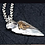 Thumbnail: Silver retro The Eye of Horus stone spear pendant sterling silver 925