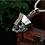 Thumbnail: Hopping Vampire skull retro pendant sterling silver 925 retro style