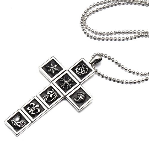 Retro classic cross unique pendant sterling silver 925