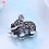 Thumbnail: Retro silver mosaic elephant pendant sterling silver 925