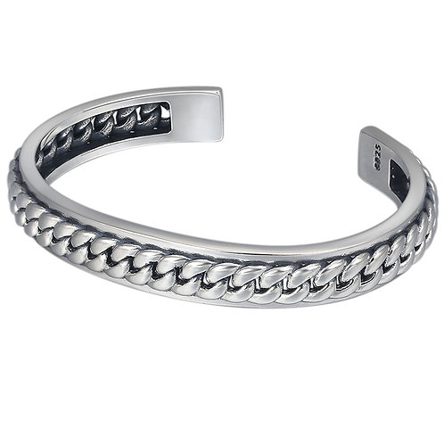 Fashion unique design creative knit style bracelet sterling silver 925