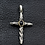 Thumbnail: Screw-type gemstone cross pendant sterling silver 925 Gothic  style