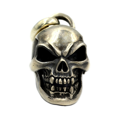 Large-size skull man pendant sterling silver 925 punk style