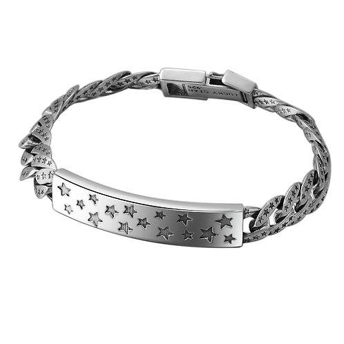 Retro silver domineering star men's bracelet sterling silver 925