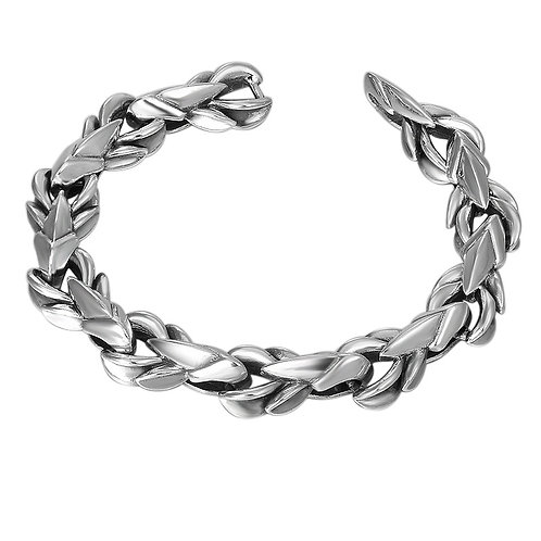 Silver retro domineering easy-matching thick men's bracelet sterling silver 925