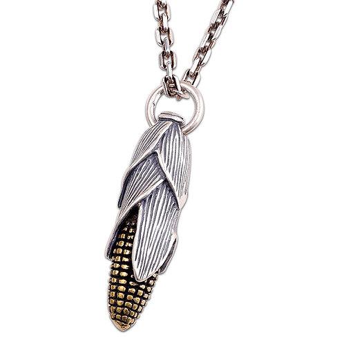 Silver fashion design corn pendant sterling silver 925 retro style