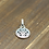 Thumbnail: Western fashion simple design flying eagle pendant sterling silver 925