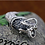 Thumbnail: Delicate design wolf fang ruby pendant sterling silver 925