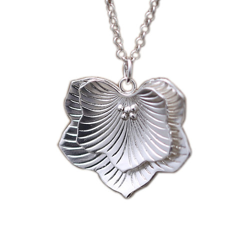 Silver double lay leaves of phoenix tree pendant sterling silver 925