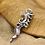 Thumbnail: Unique design retro sea horse pendant sterling silver 925