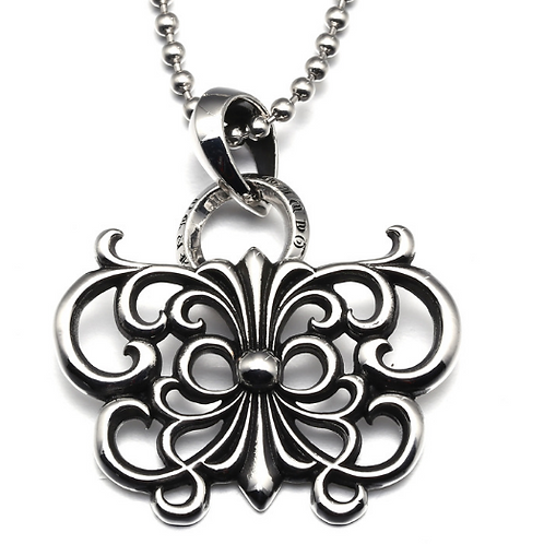 Unique design classic hollow-out butterfly pendant sterling silver 925