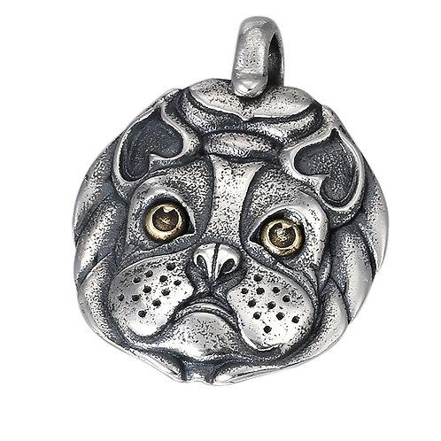 Silver animal dog retro pendant sterling silver 925 retro style