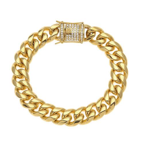 Cuban style men's stainless steel 316L bracelet