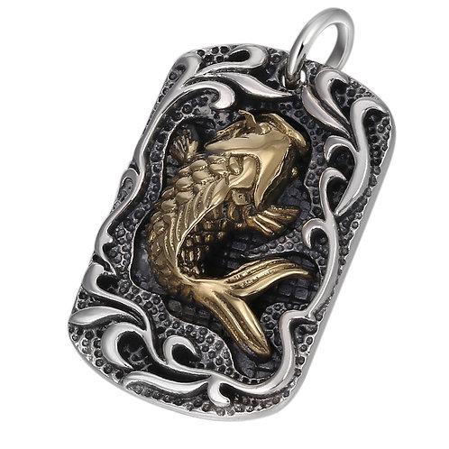 Fashion retro silver copper carp pendant sterling silver 925