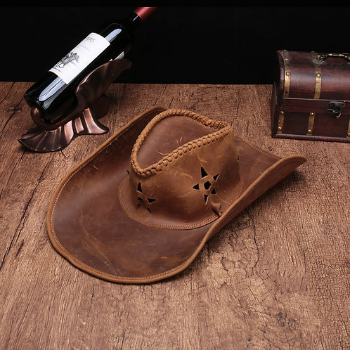 Laest Fashion Style Full Grain Cow Leather Hat