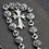 Thumbnail: Silver fashion unique design cross bracelet sterling silver 925