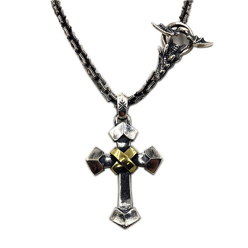Gabor gold triangle pendant sterling silver 925 punk style
