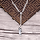 Thumbnail: Simple design fashion easy-matching feather pendant sterling silver 925