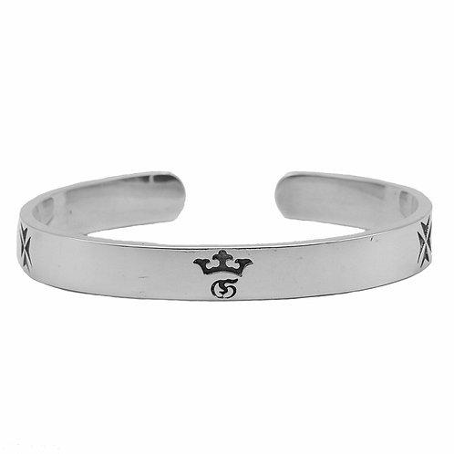 Retro unique design simple easy-matching crown bracelet sterling silver 925