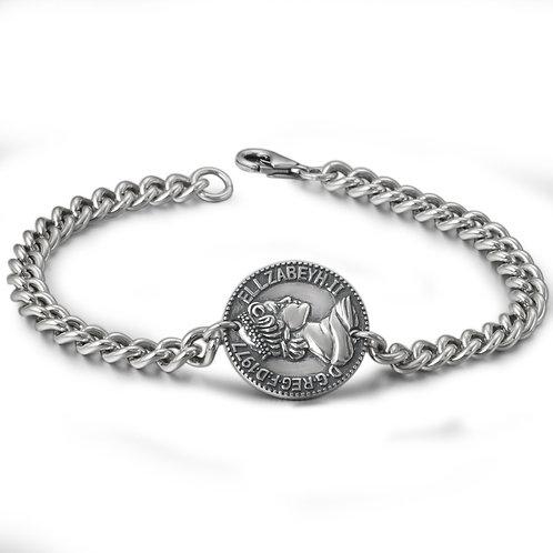 Retro silver fashion design Western style round bracelet sterling silver 925
