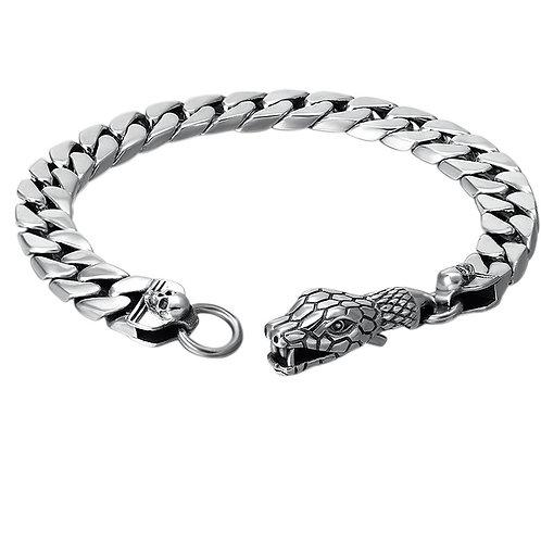 Silver glaze retro classic creative design men's bracelet sterling silver 925