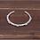 Thumbnail: Opened silver retro fashion easy-matching cross men bracelet sterling silver 925