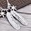 Thumbnail: Fashion silver goro feather pendant sterling silver 925
