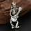 Thumbnail: Punk rock guitar skull men's pendant sterling silver 925